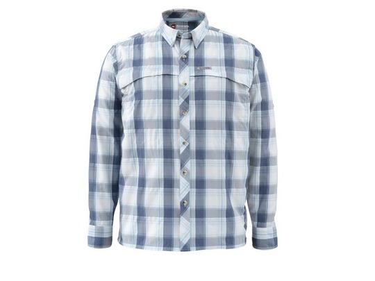2015 Simms Stone Cold Shirt - Mist Plaid